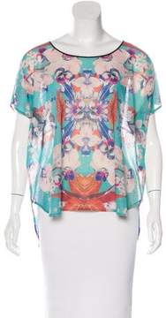Clover Canyon Floral High-Low T-Shirt