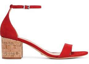 Schutz Chimes Suede And Cork Sandals