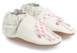 Robeez Infant Girl's 'Reaching For The Stars' Giraffe Crib Shoe