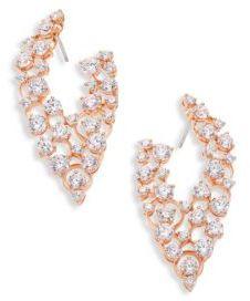 Adriana Orsini Caspian Crystal Front-Back Hoop Earrings
