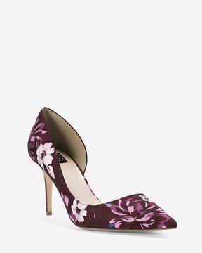 White House Black Market Ella d'Orsay Floral Heels