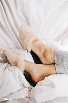 Urban Outfitters Faux Fur Mule Slide