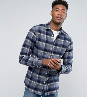 Selected TALL Regular Fit Shirt in Brushed Check Flanel