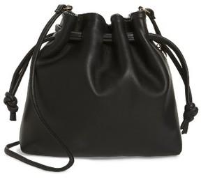 Clare V. Petite Henri Leather Bucket Bag - Black