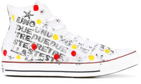 Converse spotted hi-top sneakers