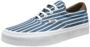Vans Women's Era 59 Skateboarding Shoes (Stripes) Blue/True White