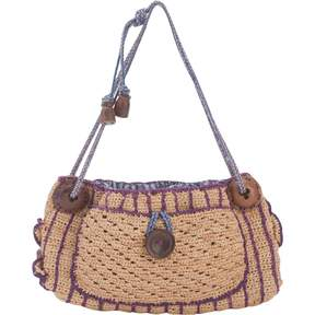 Jamin Puech Purple Wicker Handbag