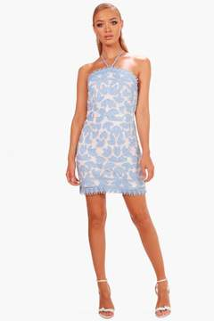 boohoo Boutique Two Tone Lace Bodycon Dress