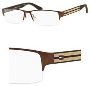 Tommy Hilfiger Eyeglasses T_hilfiger 1236 0A9G MATT DARK BROWN