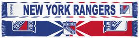 Reebok adidas New York Rangers Jacquard Wordmark Scarf