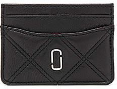 Marc Jacobs Double J Matelasse Card Case - BLACK - STYLE
