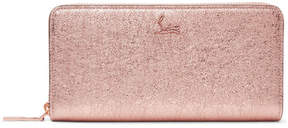 Christian Louboutin Panettone Metallic Textured-leather Continental Wallet - Pink