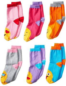 Jefferies Socks Emoji Crew 6-Pack Girls Shoes