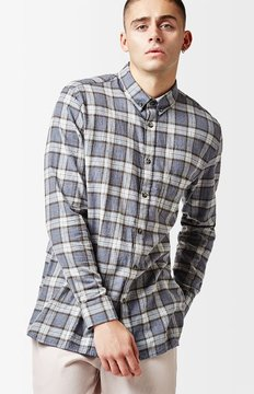 Barney Cools Cabin Plaid Flannel Long Sleeve Button Up Shirt