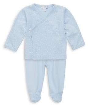 Kissy Kissy Baby's Two-Piece Starry Night Kimono Cotton Top and Pants Set