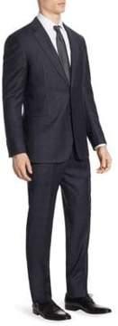 Armani Collezioni Plaid Wool G Line Suit