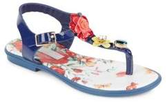 Dolce & Gabbana Toddler's & Kid's Embellished T-Strap Sandals