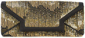 Oscar de la Renta sequin envelope clutch