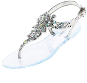 Liliana Silver Bejeweled Sandals
