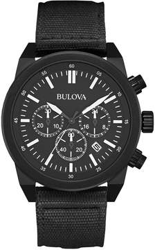 Bulova 43mm Men's Chronograph Watch w/ Fabric Strap