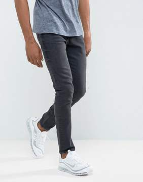 Pull&Bear Skinny Jeans In Dark Gray Wash