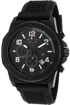 Bulova Watches Mens Marine Star Chronograph Rubber Band Watch
