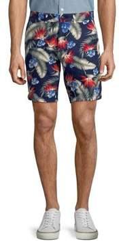 Black & Brown Black Brown Floral Slim Shorts
