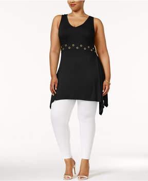 Belldini Plus Size Handkerchief-Hem Tunic
