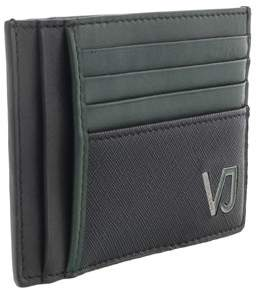 Versace Ee3yqbpa4 E899 Black & Green Compact Wallet.