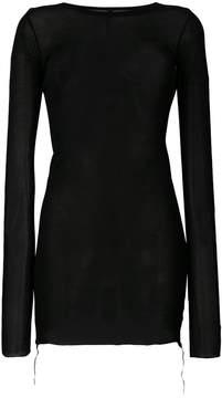 Barbara I Gongini long-line sheer jumper
