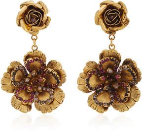 Erickson Beamon Vermeil Bouquet 24K Gold-Plated Crystal Earrings