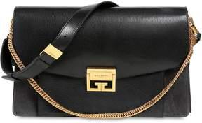 Givenchy Large Gv3 Suede & Leather Shoulder Bag