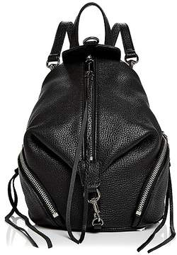 Rebecca Minkoff Julian Convertible Mini Leather Backpack - BLACK/SILVER - STYLE