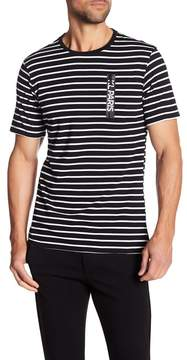 Karl Lagerfeld Short Sleeve Striped Paris Tee