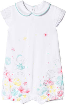 Mayoral White Fairy and Flower Print Romper