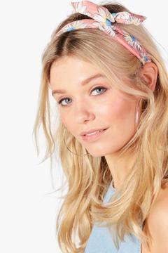 boohoo Ellie Floral Bend Tie Headscarf