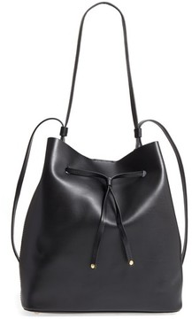 Lodis Silicon Valley Large Halina Leather Bucket Bag - Black
