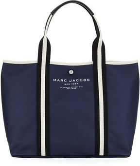 Marc Jacobs Canvas Shopper Tote Bag - MIDNIGHT BLUE - STYLE