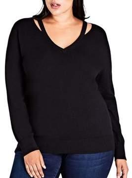City Chic Plus Cutout Detail Sweaters