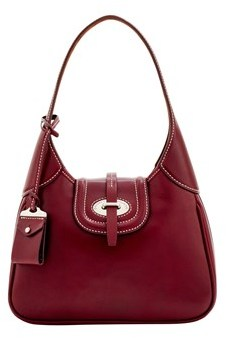 Dooney & Bourke Florentine Toscana Small Hobo Shoulder Bag. - BORDEAUX - STYLE