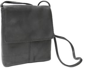 Royce Leather Women's Vaquetta Small Flap Over Crossbody Bag.