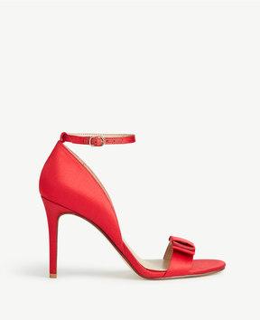 Ann Taylor Louise Satin Bow Heeled Sandals