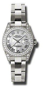 Rolex Lady Datejust 26 Mother of Pearl Dial 18K White Gold Oyster Bracelet Automatic Watch