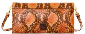 Dooney & Bourke City Python Crossbody Clutch Shoulder Bag - ORANGE - STYLE
