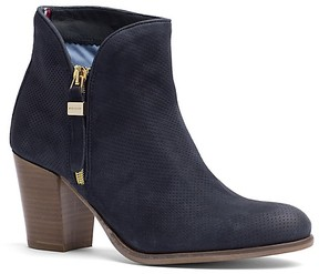 Tommy Hilfiger Final Sale-Perforated Nubuck Ankle Boot