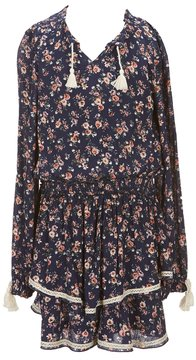 Truly Me Big Girls 7-16 Floral Tiered Skirt Dress