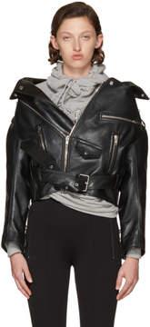 Balenciaga Black Leather Oversized Swing Biker Jacket