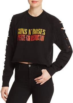 Bravado Guns N' Roses Cutout-Sleeve Cropped Sweatshirt - 100% Exclusive