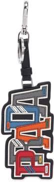 Prada Character Saffiano Leather Key Chain