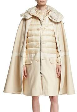 Moncler Constance Cape Quilted Puffer Jacket